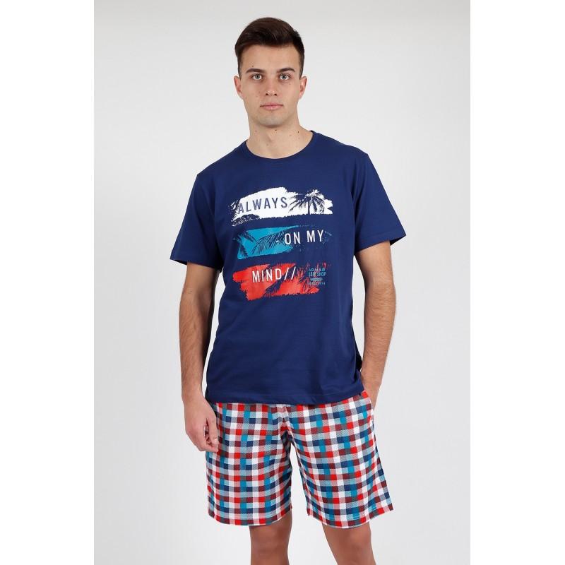 Pijama Hombre Verano Estampado ALWAYS ADMAS Color Marino