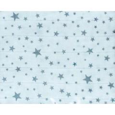 Muselina 135x135 cm estampado estrellas GRIS