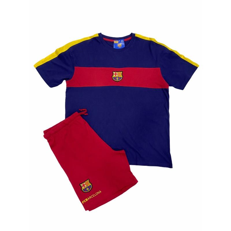 Pijama Hombre Verano FC Barcelona Color BLAUGRANA