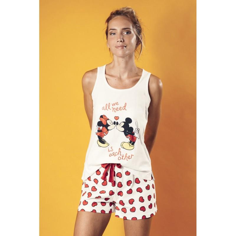 Pijama Tirantes Mujer MICKEY Y MINNIE Disney Love Mouse