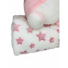 Peluche + Manta Estrellas Coralina en caja Regalo color ROSA