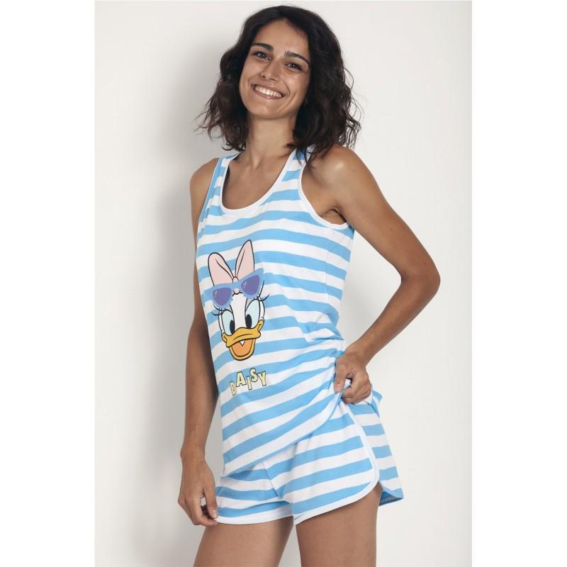 Pijama Verano Tirantes Mujer DAISY Disney Color Azul Rayas