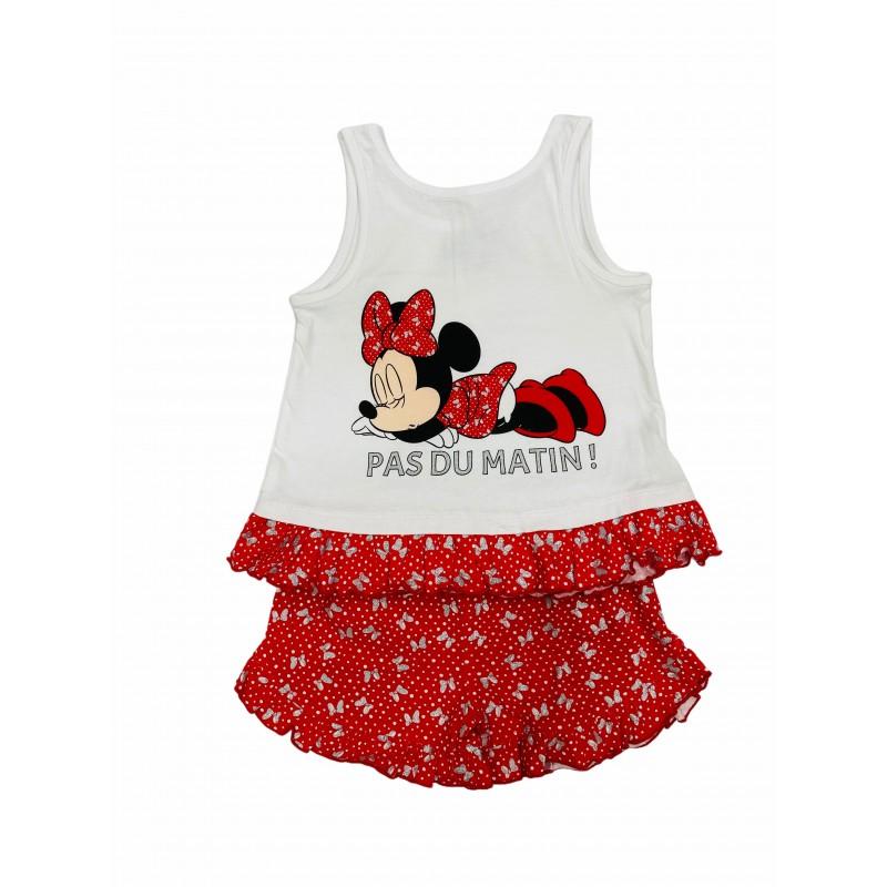 Pijama de Verano para Niña DISNEY Minnie Mouse Color ROJO