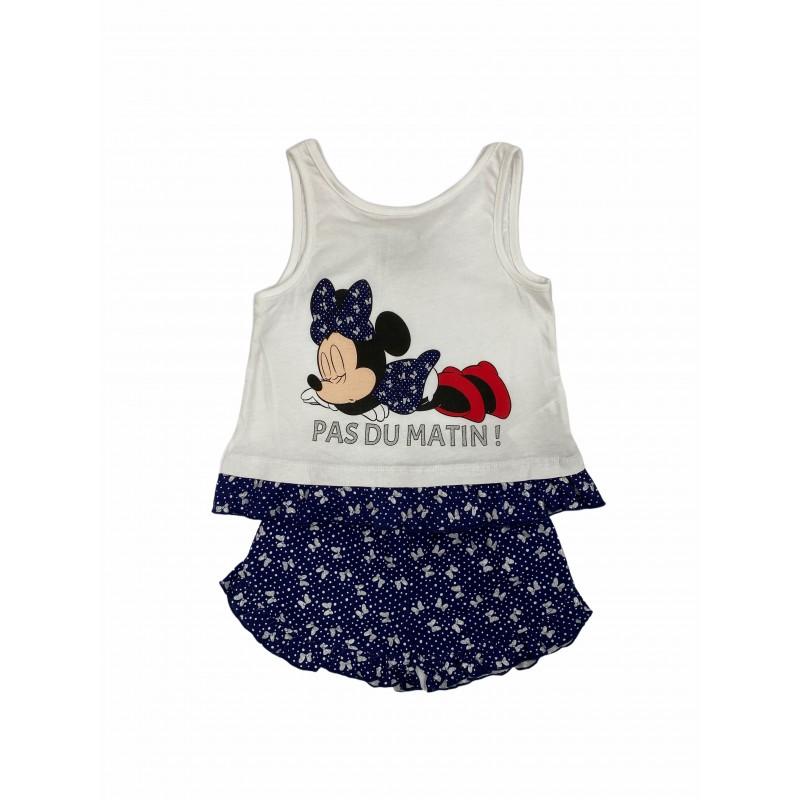 Pijama de Verano para Niña DISNEY Minnie Mouse Color AZUL