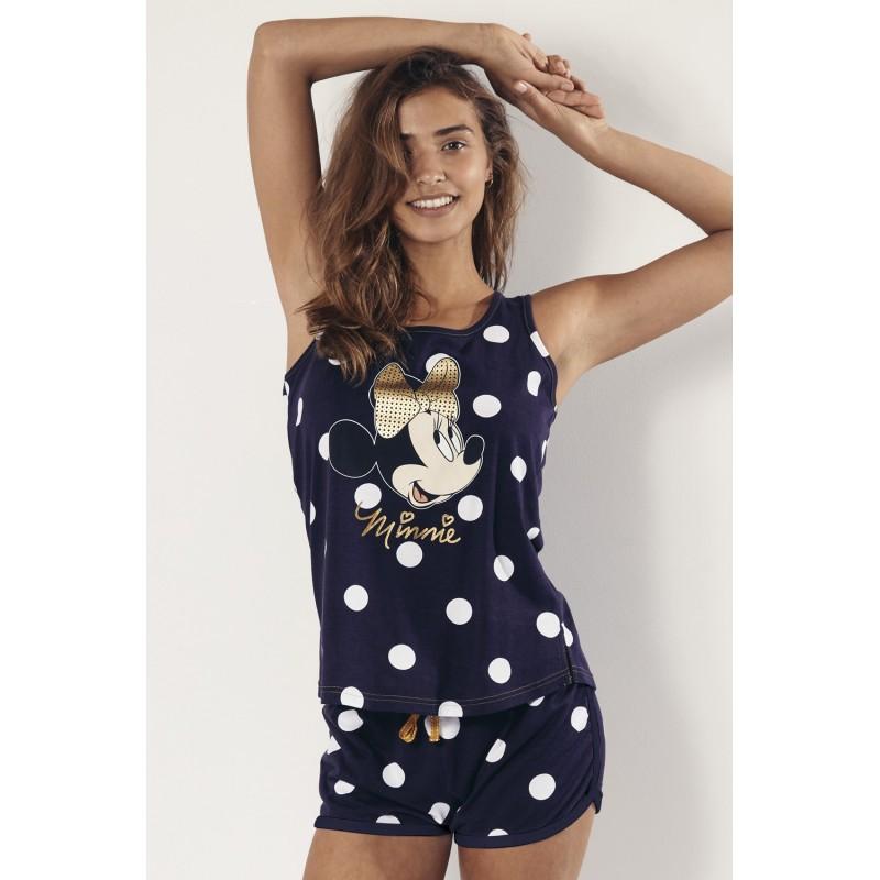 Pijama Verano Tirantes Mujer DISNEY MINNIE MOUSE Color Azul Marino