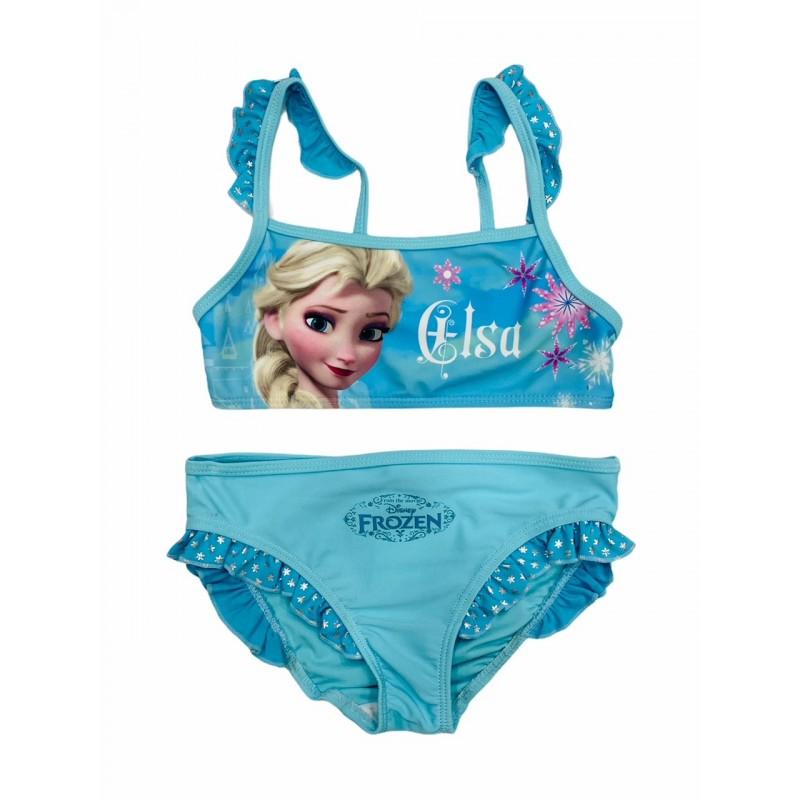 Bikini 2 piezas para Niña FROZEN Color Azul