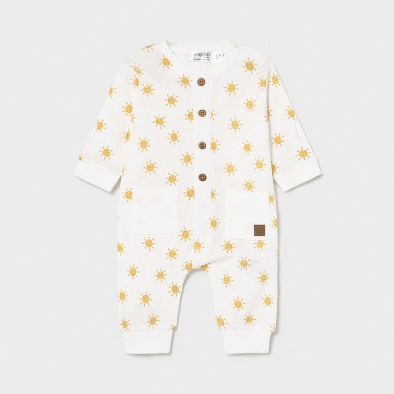 Pijama con bolsillos Recién Nacido MAYORAL Color Limón
