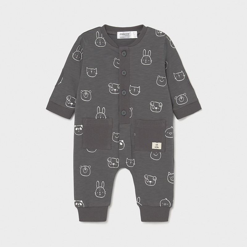 Pijama con bolsillos Recién Nacido MAYORAL Color Antracita