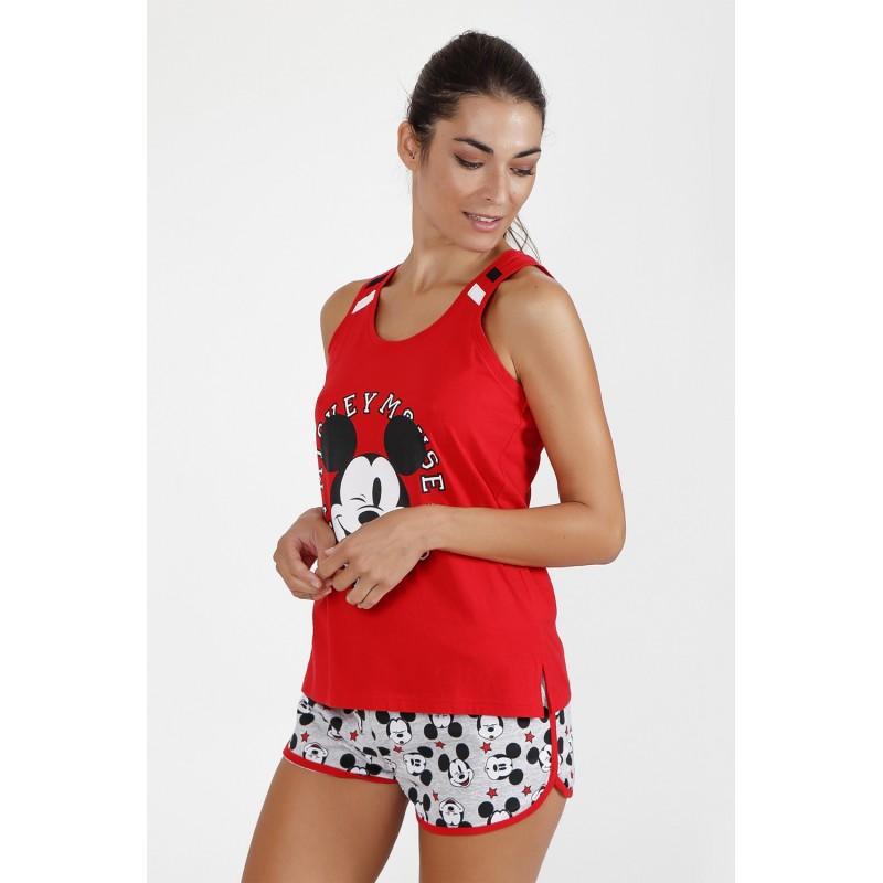Pijama Verano Tirantes Mujer DISNEY MICKEY MOUSE Color ROJO