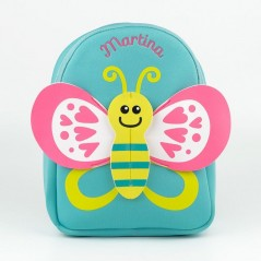 Mochila neopreno Neón Mariposa personalizada