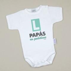 Body Bebé Personalizado estampado L PAPÁS en prácticas