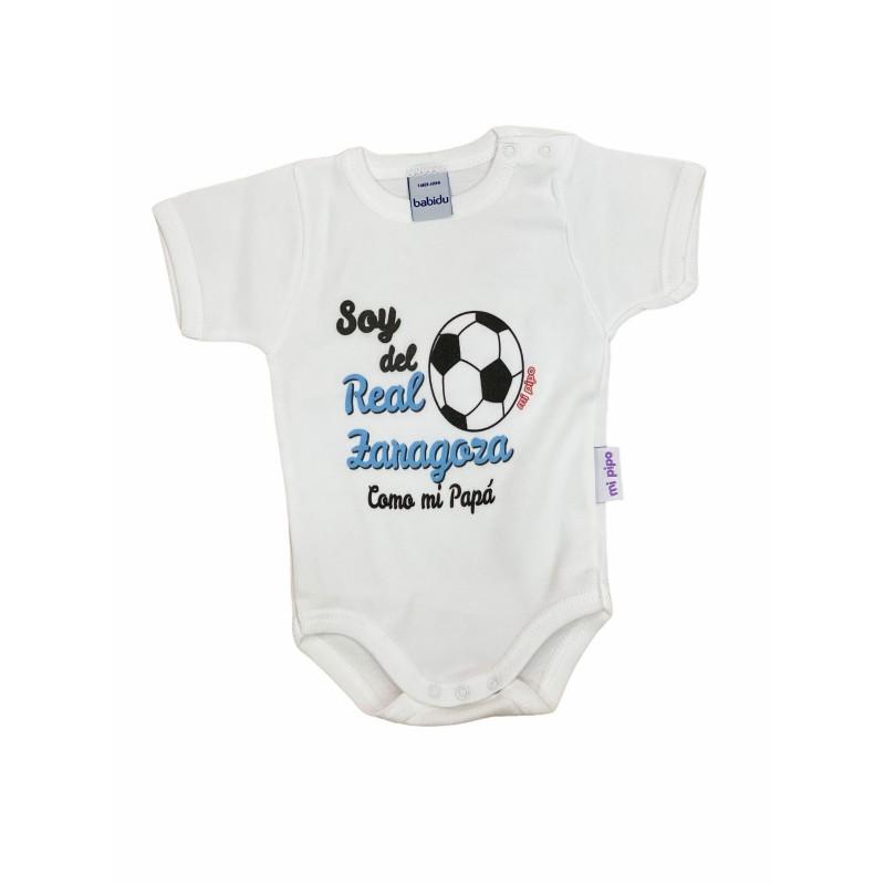 Body Bebé estampado Soy del Real Zaragoza como mi Papá