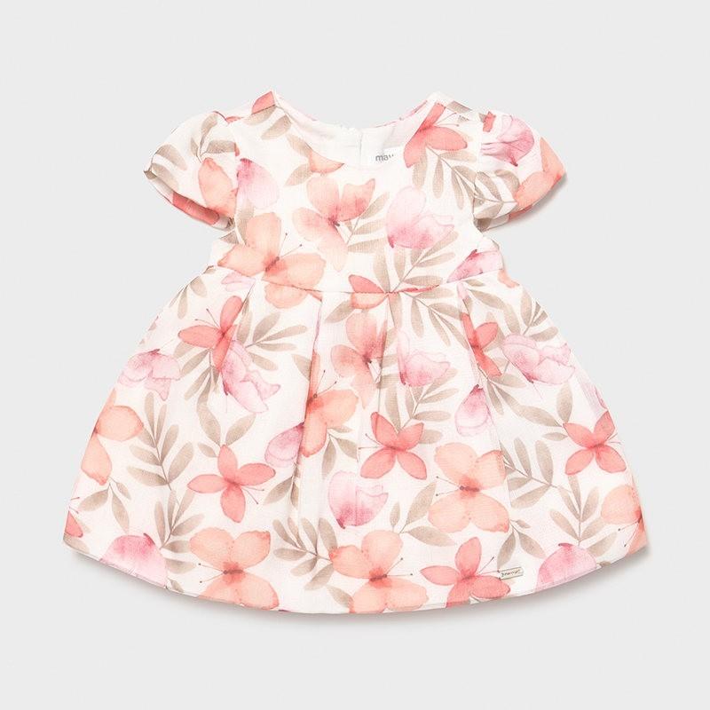 Vestido ceremonia estampado recién nacida niña