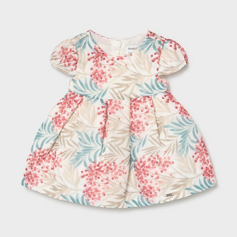 Vestido ceremonia estampado recién nacida niña Color MACARON