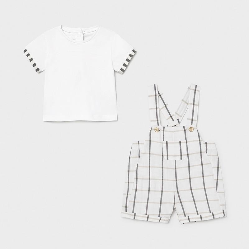 Conjunto peto y camiseta recién nacido niño