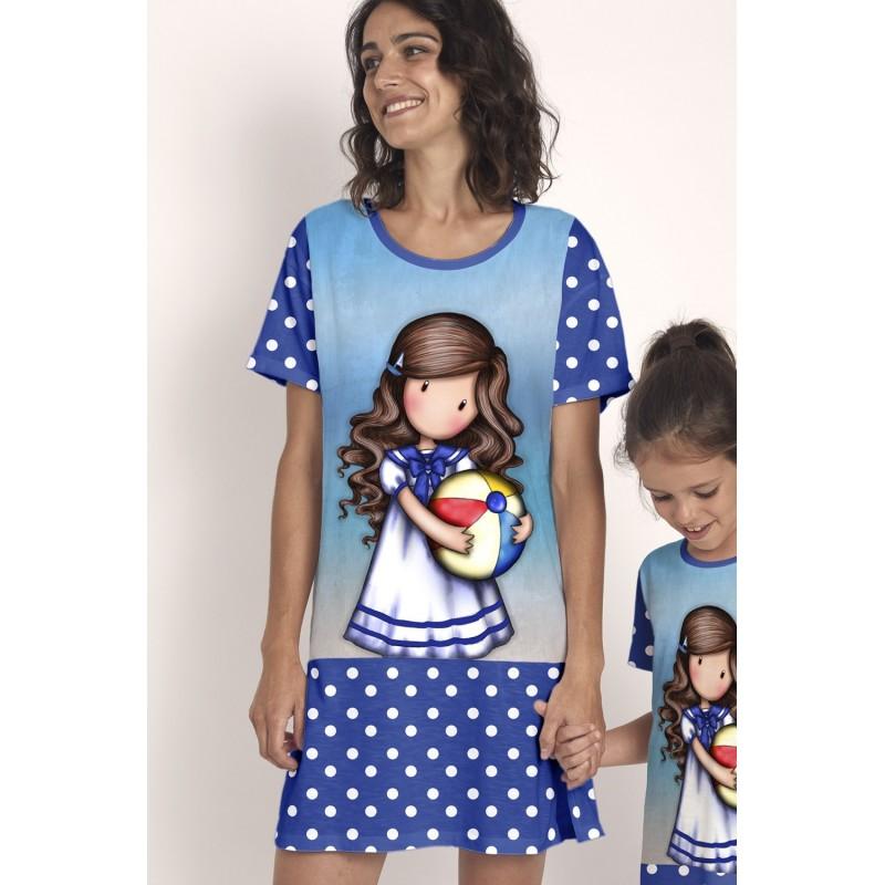 Camisón de Verano Mujer SANTORO GORJUSS Color Azul