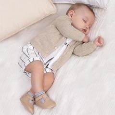 Conjunto pantalón corto y camisa recién nacido niño