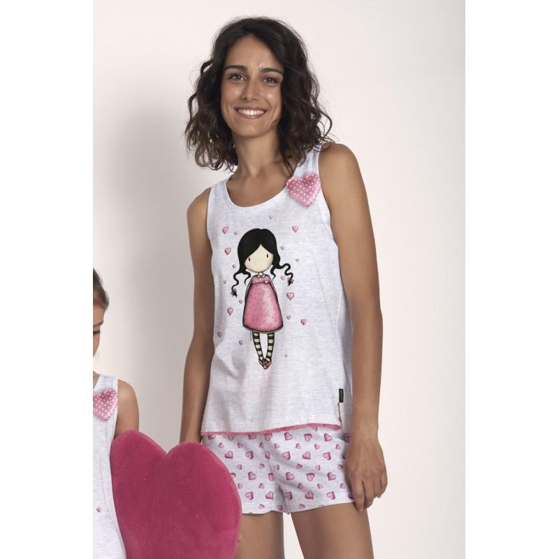Pijama de Verano Tirantes Mujer SANTORO GORJUSS Color Gris