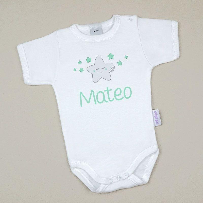 Body Bebé Personalizado con nombre estampado Estrella Sonrisa