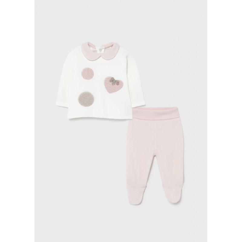 Conjunto Polaina Recién Nacida Bebé MAYORAL Color Rosa