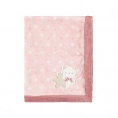 Manta de Pelo Estampado para Bebé MAYORAL Color DUSTY PINK