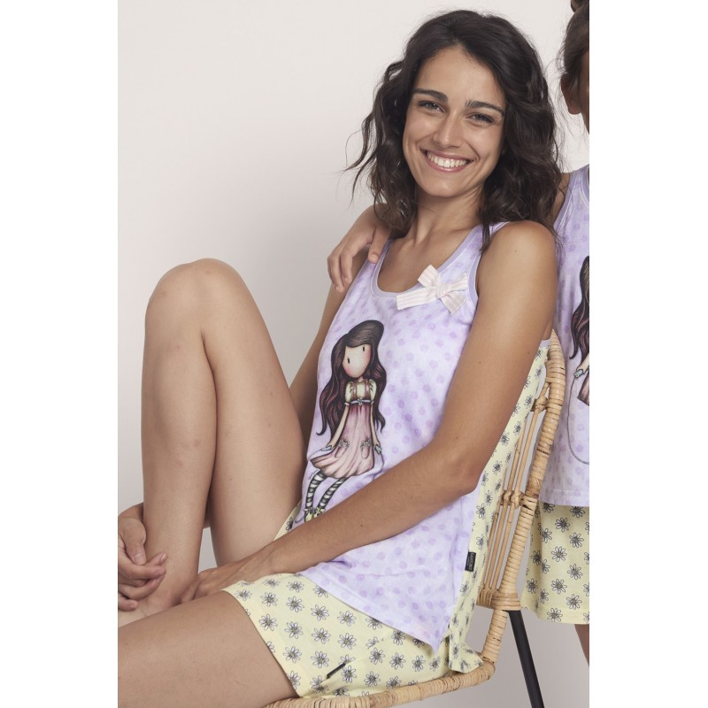 Pijama de Verano Tirantes Mujer SANTORO GORJUSS Color LAZO