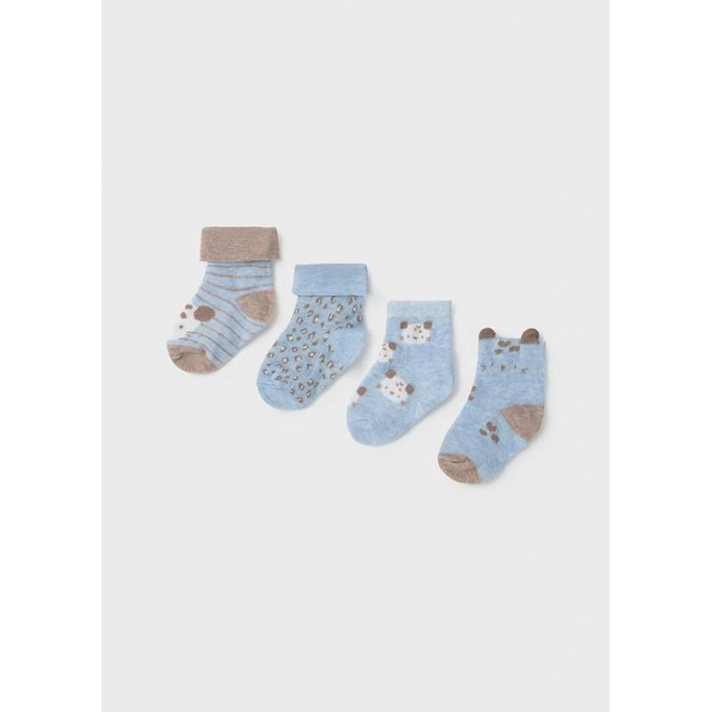 Set 4 Calcetines Estampado Invierno Bebé MAYORAL Color Cielo