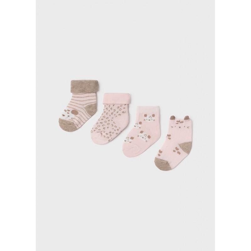 Set 4 Calcetines Invierno Bebé MAYORAL Color ROSA BABY