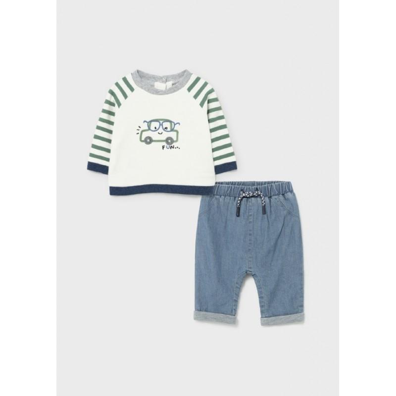Conjunto Pantalón y Jersey Bebé MAYORAL Color Eucalipto
