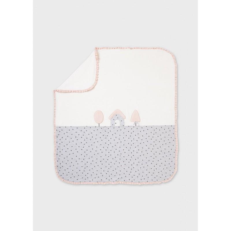Manta Combinada para Bebé MAYORAL Color Perla