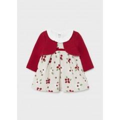 Vestido Rebeca Bebé Recién Nacida MAYORAL Color Rojo