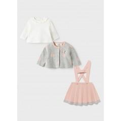 Conjunto Tricot 3 Piezas Bebé Recién Nacida MAYORAL Color Dusty