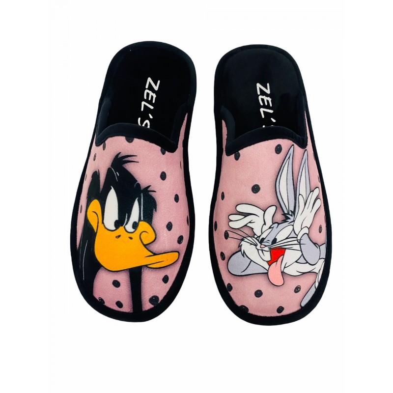 Zapatillas de Casa Bugs Bunny y Pato Lucas