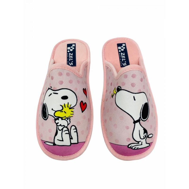 Zapatillas de Casa SNOOPY Color Rosa
