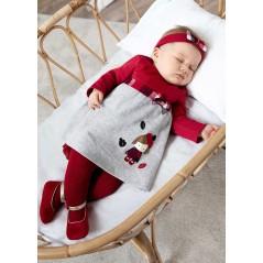 Vestido con Diadema Bebé Recién Nacida MAYORAL