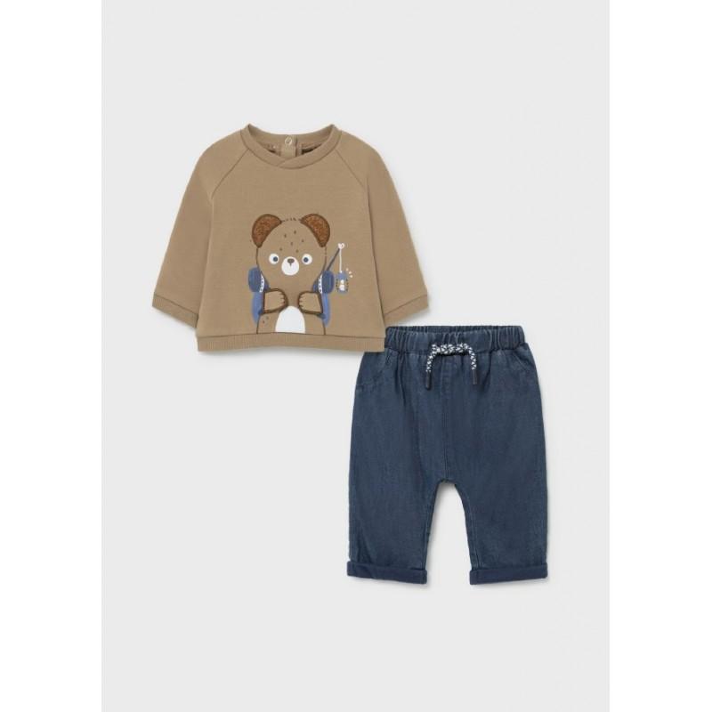 Conjunto Pantalón y Jersey Bebé MAYORAL Color Caramelo
