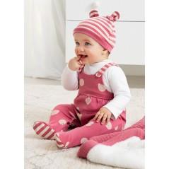 Pelele con Gorro Bebé Recién Nacida MAYORAL Color Arándano
