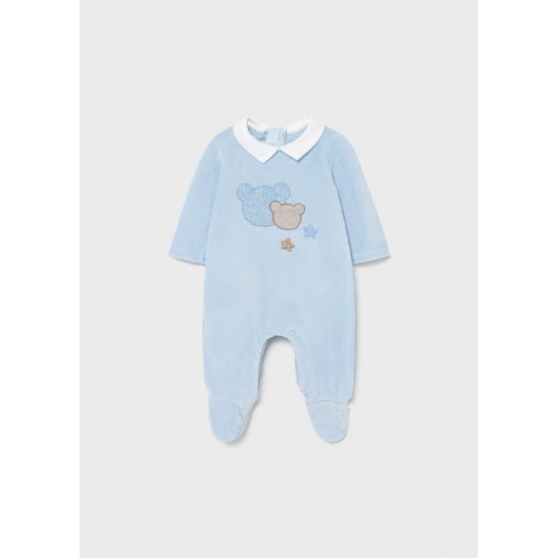 Pijama de Punto Invierno Bebé Recién Nacido MAYORAL Color Cielo