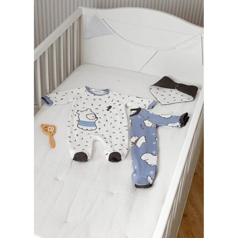 Set 2 Pijamas Punto y Babero Recién Nacido MAYORAL