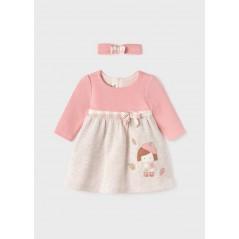 Vestido con Diadema Bebé Recién Nacida MAYORAL Color Rosa