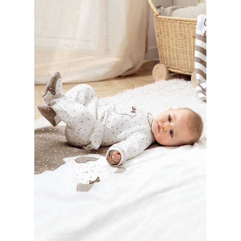 Pelele MAYORAL Lunares Bebé Recién Nacida Color Crudo