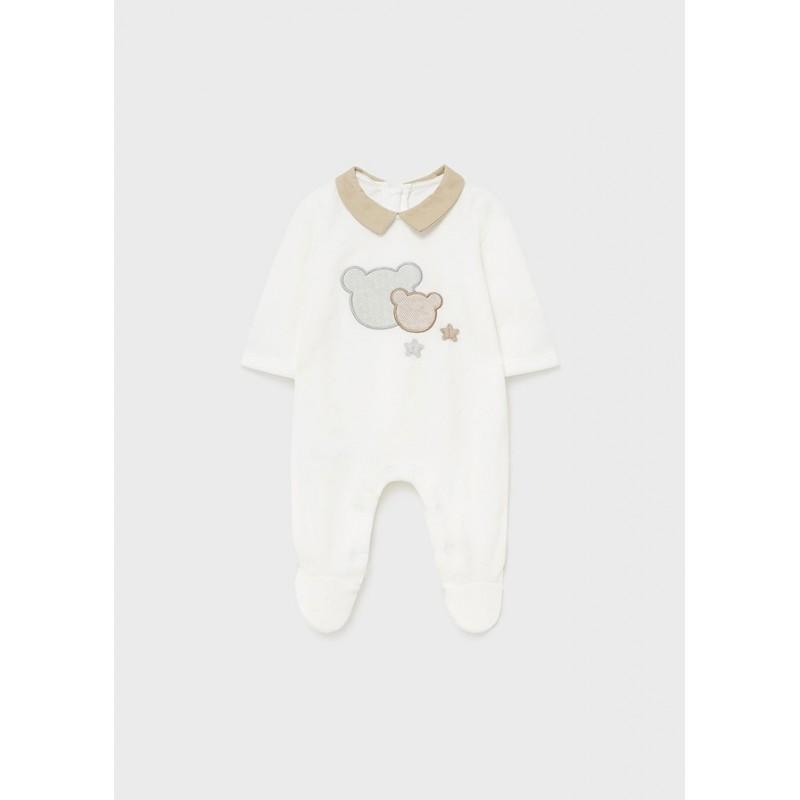 Pijama MAYORAL Punto Invierno Bebé Recién Nacido Color Crudo