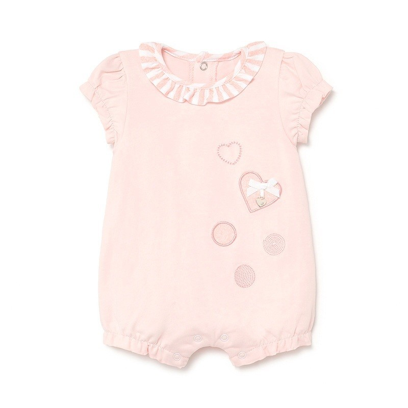 Pijama Corto Volantes Verano Bebé MAYORAL Color Rosa