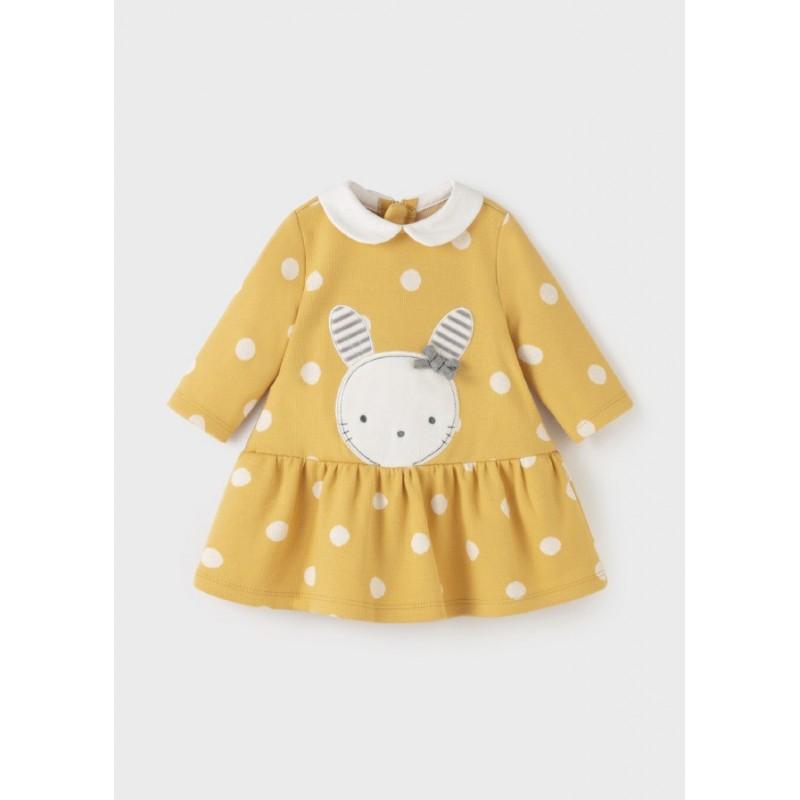 Vestido MAYORAL Lunares Recién Nacida Color Amarillo