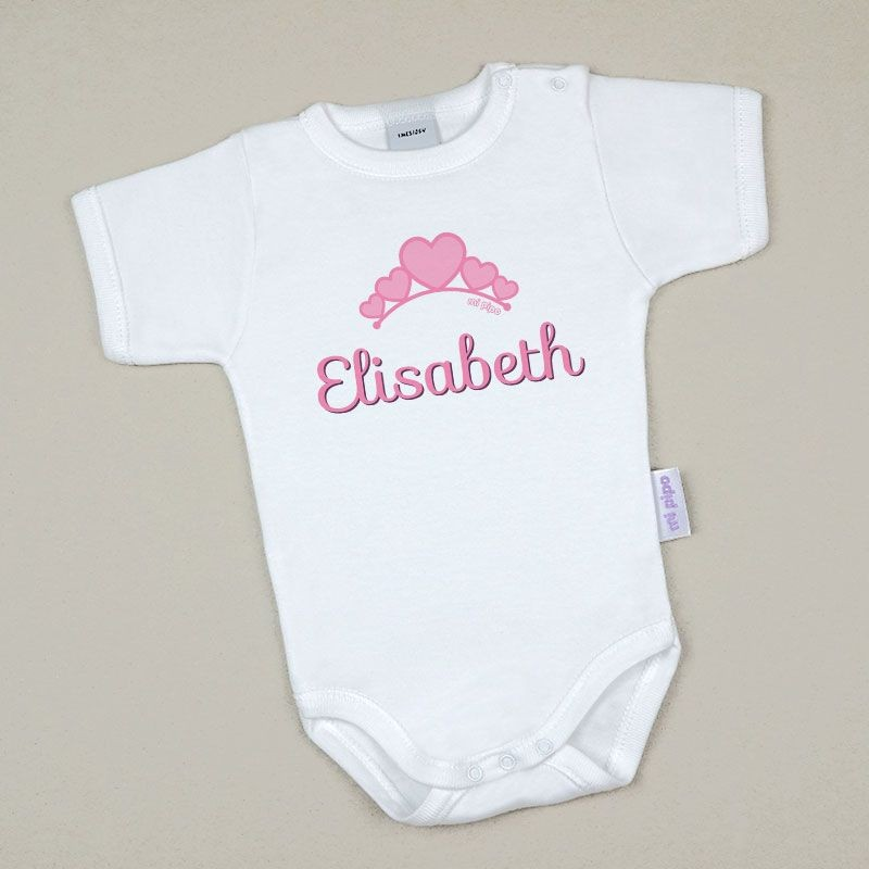 Body Bebé Personalizado con nombre Tiara Rosa