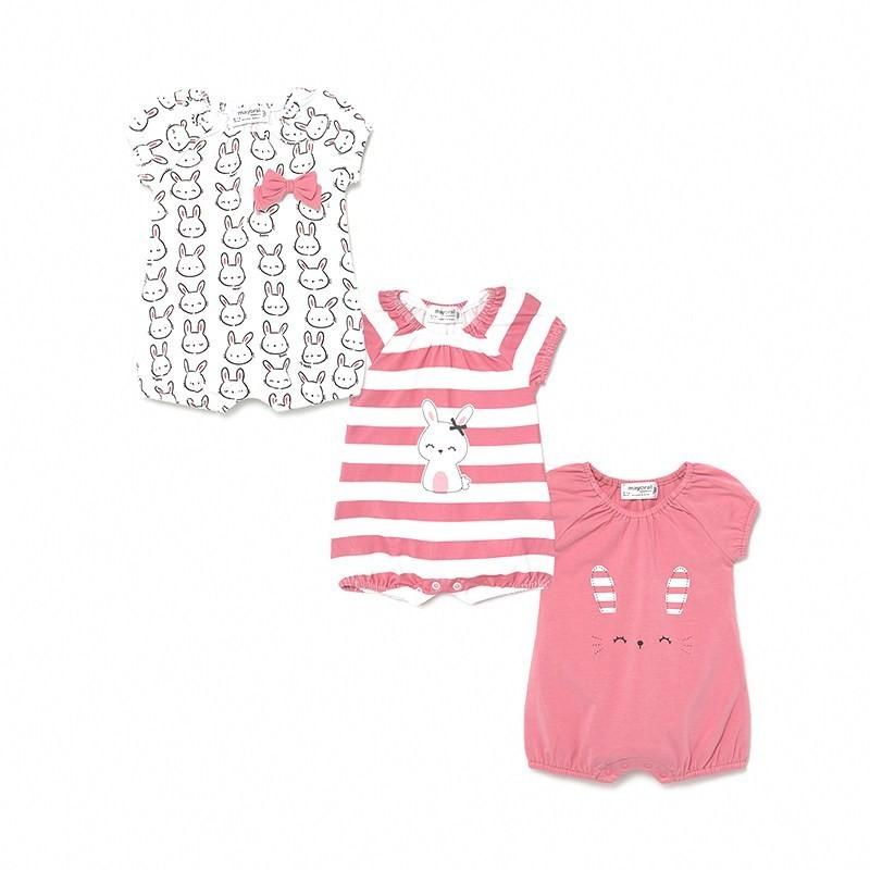 Set 3 Pijamas Punto Verano Niña Bebé MAYORAL Color BUBBLE