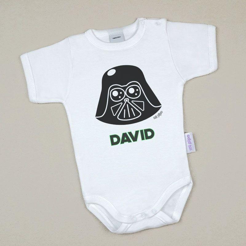 Body Bebé Personalizado con nombre estampado Darth Vader