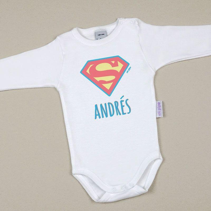 Body Bebé Personalizado con nombre estampado Superman