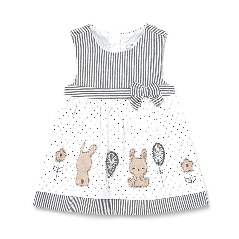Vestido Combinado de Punto Bebé Niña MAYORAL Color NEGRO