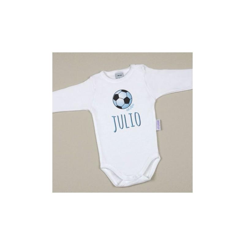 Body Bebé Personalizado con nombre estampado Balón Azul